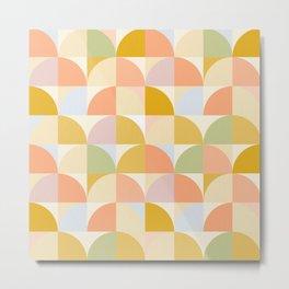 Retro Rainbow Field #abstract #geometry Metal Print