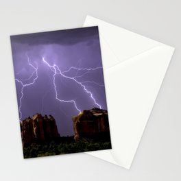 Cathedral Rock Lightning viewed from Little Horse Trail Sedona AZ Stationery Cards