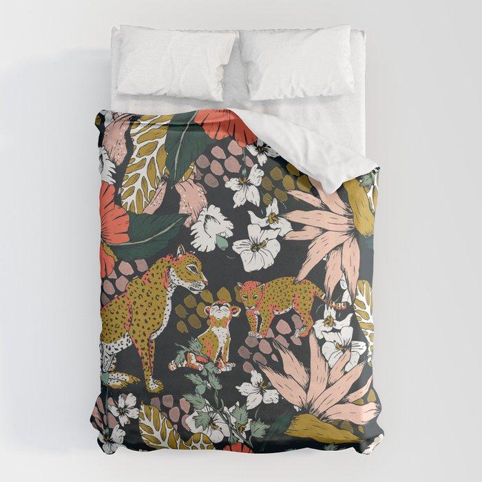 Animal print dark jungle Bettbezug