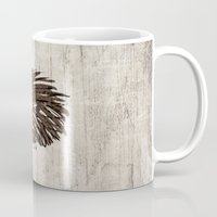 hedgehog Mugs featuring Hedgehog by Mr and Mrs Quirynen