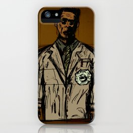the button must be pushed iPhone Case