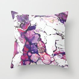 Abstract Pattern in Purple/Pink Throw Pillow