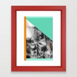 Green and Orange Framed Art Print