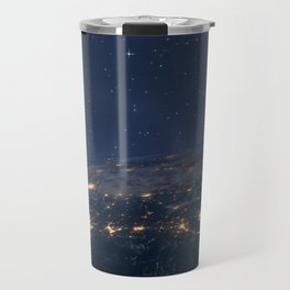 Planet earth from the space at night Travel Mug