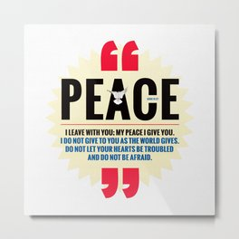 PEACE! Metal Print