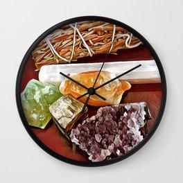 Sage & Crystals Wall Clock