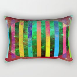 Galactic Stripes - Abstract, geometric, space themed artwork Rectangular Pillow