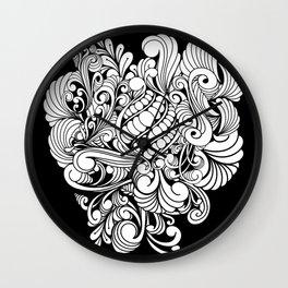 Elegant zentangle design Wall Clock