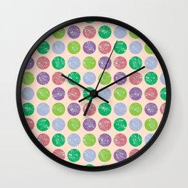 coloured dots2 Wall Clock