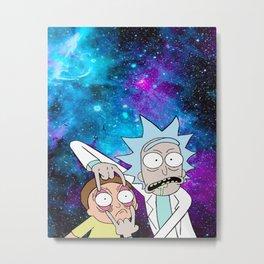 Rick Morty Galaxy Metal Print