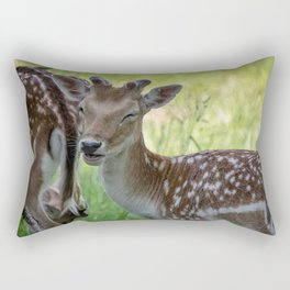 Winking deer Rectangular Pillow