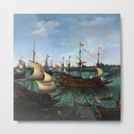 "Hendrik Cornelisz Vroom ""The Arrival of Elector Frederick V of the Palatinate and Elizabeth"" Metal Print"