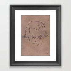 One line Shining Framed Art Print