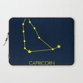 CAPRICORN (YELLOW-NAVY BLUE STAR SIGN) Laptop Sleeve