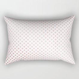 Simply Crosses in Rose Gold Sunset Rectangular Pillow