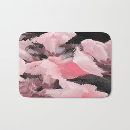 Light Pink Snapdragons Abstract Flowers Bath Mat