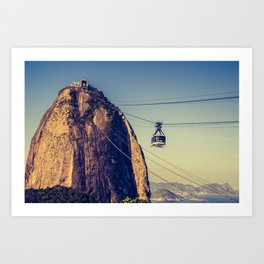 Sugar Loaf Mountain in Brazil Art Print