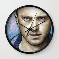 jesse pinkman Wall Clocks featuring Jesse by Olechka