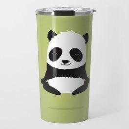Mindful panda levitating Travel Mug