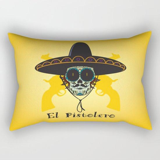 El Pistolero.Mexican sugar skull Rectangular Pillow