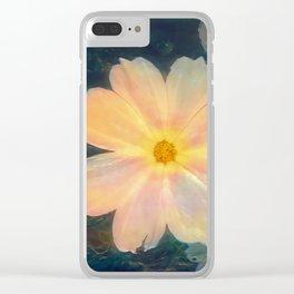 White flower kosmeya Clear iPhone Case
