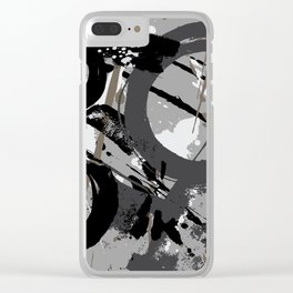 Enso Groove C by Kathy Morton Stanion Clear iPhone Case