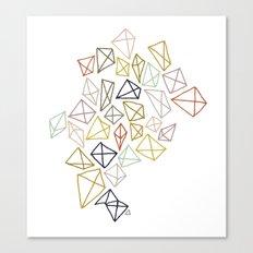 multicolor diamonds Canvas Print