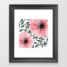 Big Watercolor Flowers Framed Art Print