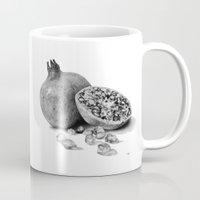 pomegranate Mugs featuring Pomegranate by Darkensian