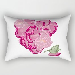 Heart of flowers Rectangular Pillow