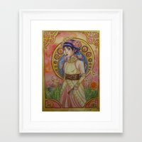mucha Framed Art Prints featuring Mucha-Esque by Jurggonnaloveit