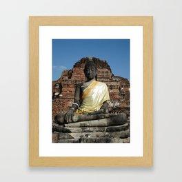 Golden Thailand Buddah Framed Art Print