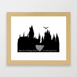 Hogwarts Is Our Home  Framed Art Print