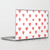 hearts Laptop & iPad Skins featuring Hearts by Cute Cute Cute