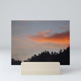 Sunset in the mountains Mini Art Print