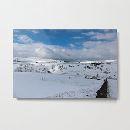 Snow in the peak district Metal Print