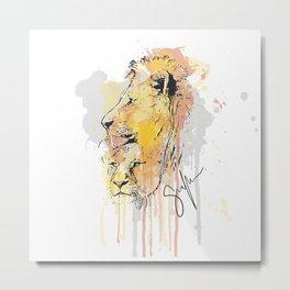 Lion pair Metal Print