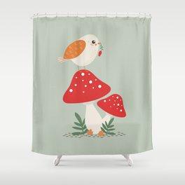 Autumn Bird Shower Curtain