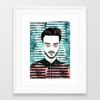 mineral Framed Art Prints featuring Mineral by Anna Kuzmicheva