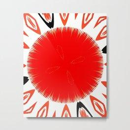 Red sphere Metal Print