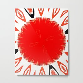 Red sphere Metal Print