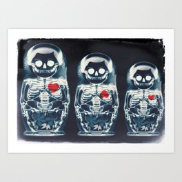 Nesting Doll X-Ray Art Print