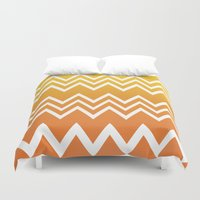 tequila Duvet Covers featuring Tequila Sunrise by Color and Form