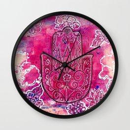 Hamsa Wall Clock
