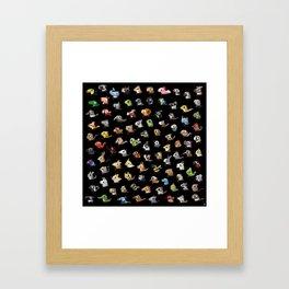 Animal Marathon Framed Art Print