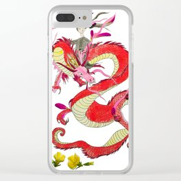 Dragon Rider Clear iPhone Case