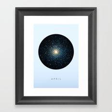 April inspired Framed Art Print