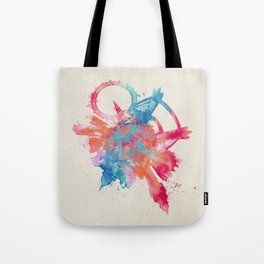 London, United Kingdom Colorful Skyround / Skyline Watercolor Painting Tote Bag