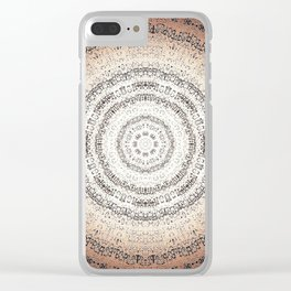 Vintage Ancient Words Mandala Clear iPhone Case