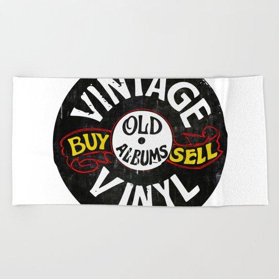 Vintage Vinyl Beach Towel